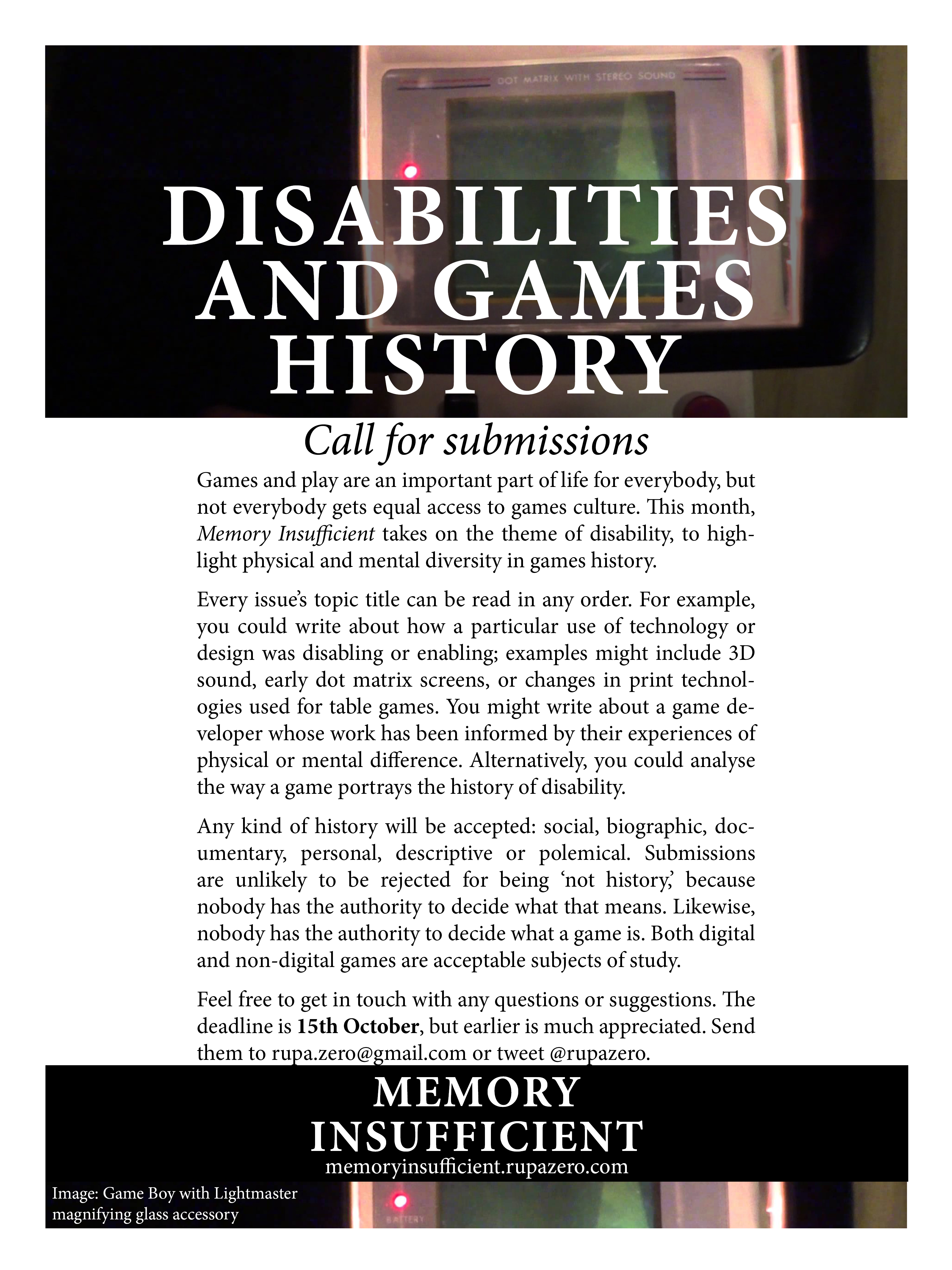 Memory-Insufficient-CFS-disabilities