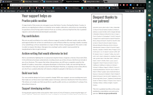 New design of Critical Distance call-to-action page, below the fold